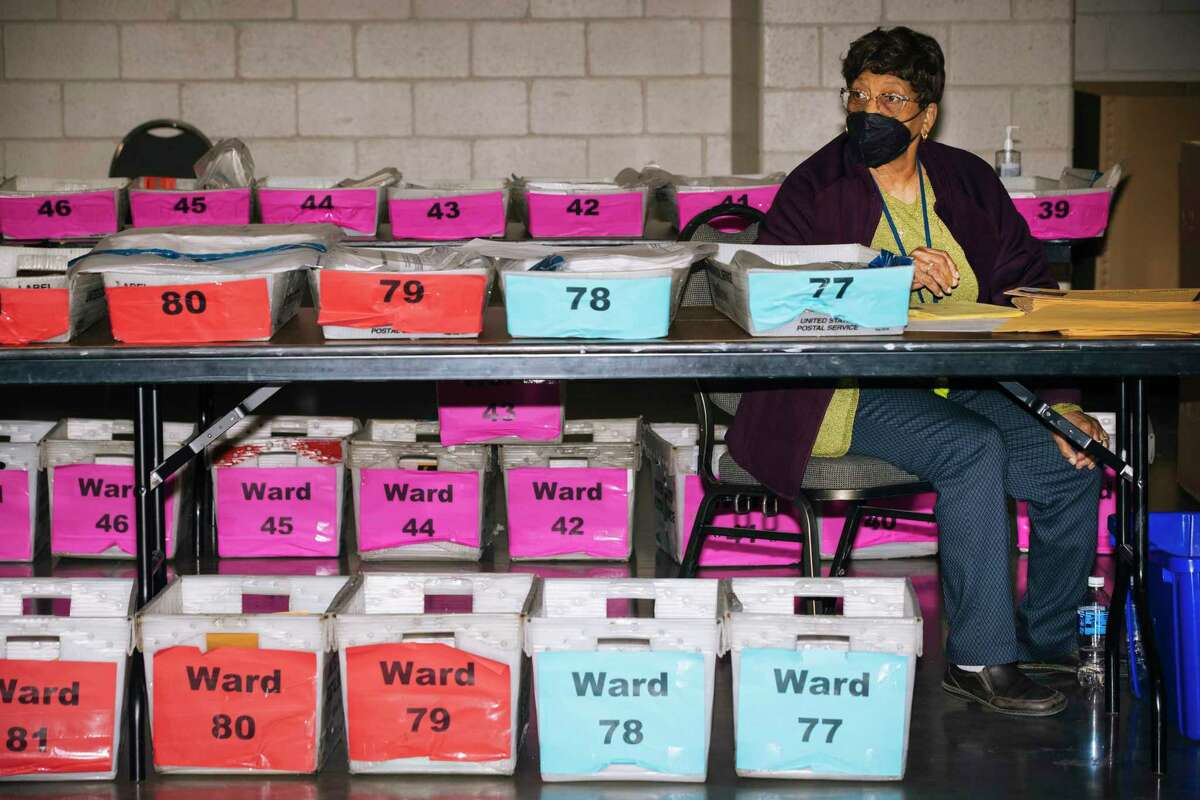 Election worker Marion Fields, 86, sorts ballots on the first day of the recount in Milwaukee County on Friday.