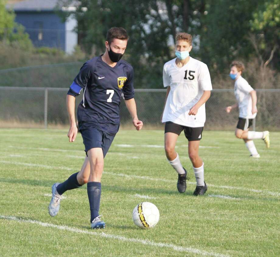 Manistee senior Jack Holtgren was named All-State honorable mention in Division 3 boys soccer this season. (News Advocate file photo)