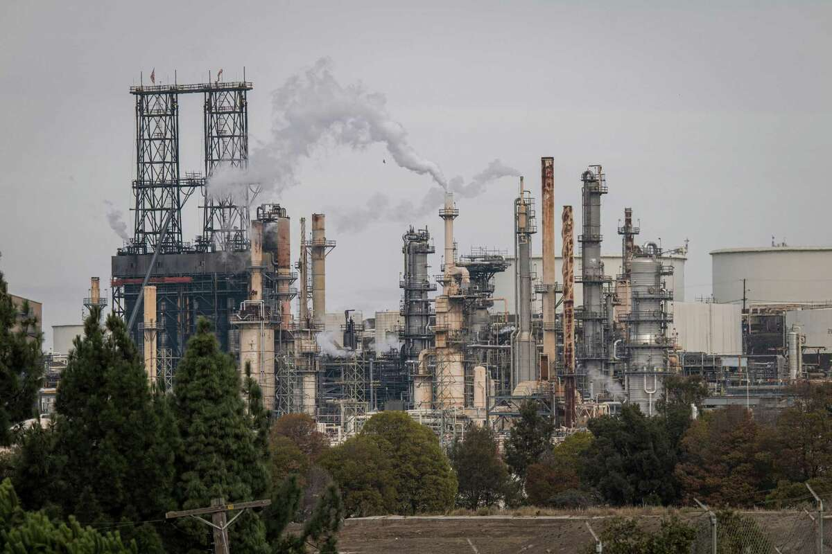 A Phillips 66 refinery in Rodeo, Calif., on Wednesday, Nov. 11, 2020. Phillips 66 is preparing the San Francisco area refinery into one of the world's largest renewable fuel plants with operations starting as early as 2024, producing more than 680 million gallons annually of renewable diesel and gasoline.