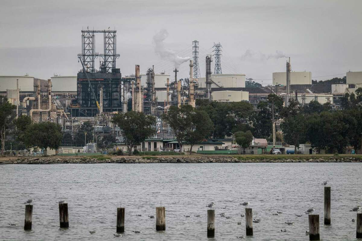 A Phillips 66 refinery in Rodeo, Calif. on Wednesday, Nov. 11, 2020. Phillips 66 is preparing the San Francisco area refinery into one of the world's largest renewable fuel plants with operations starting as early as 2024, producing more than 680 million gallons annually of renewable diesel and gasoline.