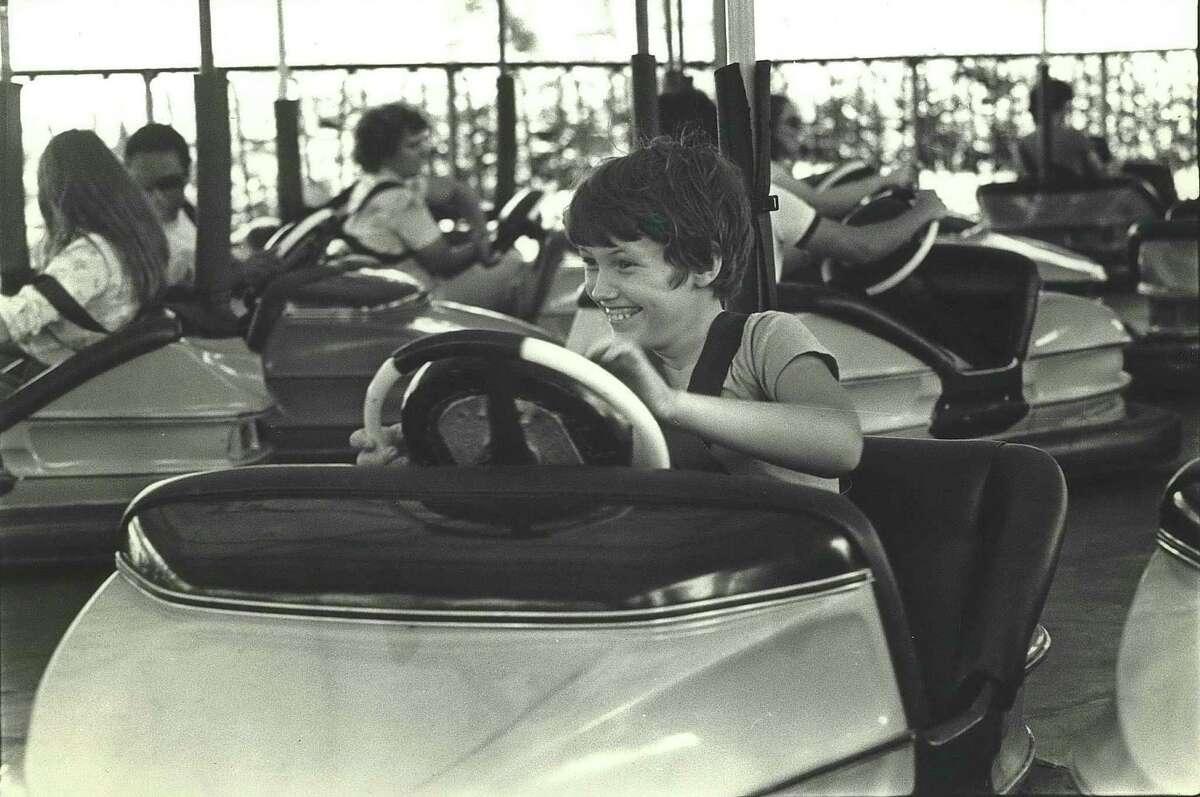 Smiles of fun at AstroWorld, Houston, Texas.