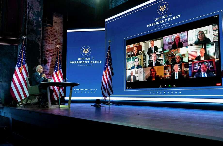 El President-electo Joe Biden recibe un informe de seguridad nacional en Wilmington, Del., el 17 de noviembre de 2020. Photo: Ruth Fremson /NYT / NYTNS