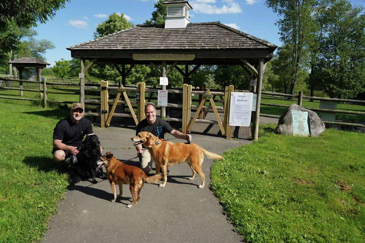 New Canaan's dog park reopened in May. A group of Wilton dog owners would like to build a dog park in town.