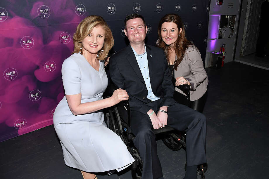 Author Arianna Huffington, co-founder of ALS ice bucket challenge Pat Quinn and Anne Quinn attend the Klick Health MUSE NYC on March 31, 2016 in New York City. (Photo by Nicholas Hunt/Getty Images for Klick, Inc.) Photo: (Photo By Nicholas Hunt/Getty Images For Klick, Inc.) / 2016 Getty Images