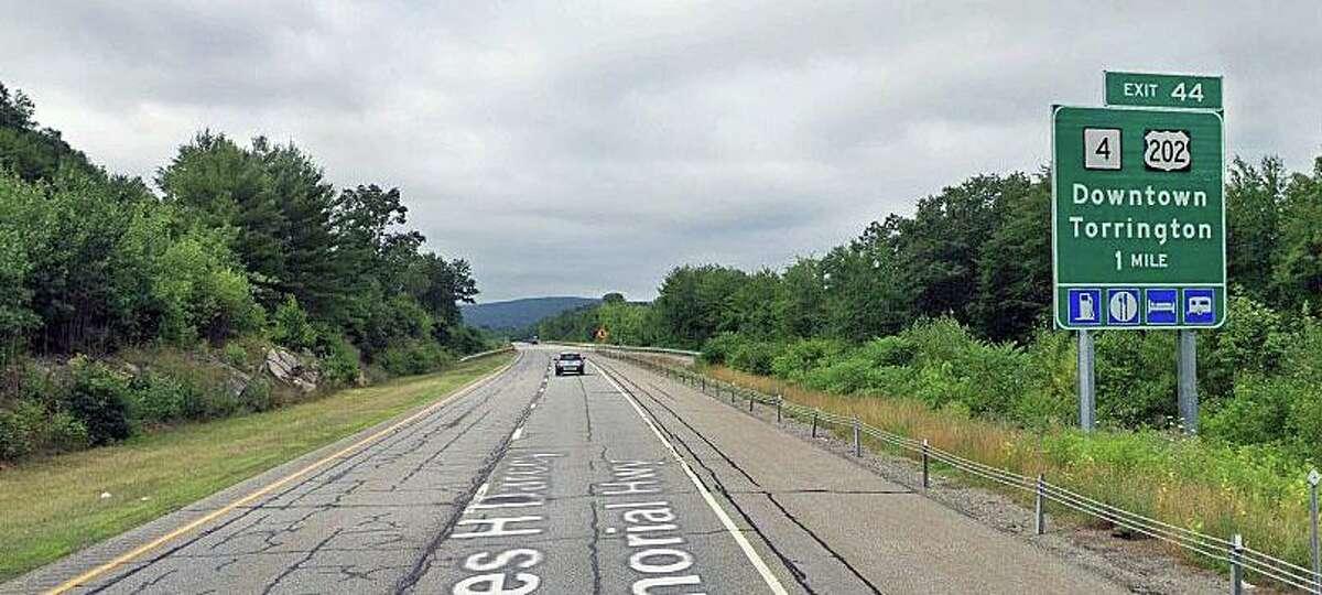 Route 8 south in Torrington, Conn.