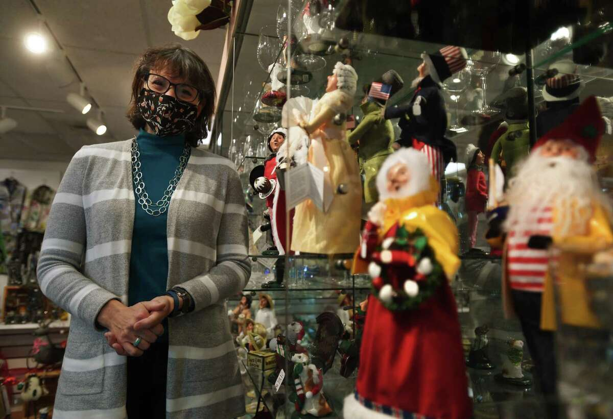 Owner Anita Bruscino is crossing her fingers for a strong holiday shopping season at Elegant Touch Fine Gifts in Cheshire.