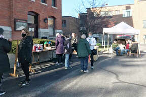 Cold weather didn't deter patrons from the First Congregational Church's Heritage Bazaar on Saturday.