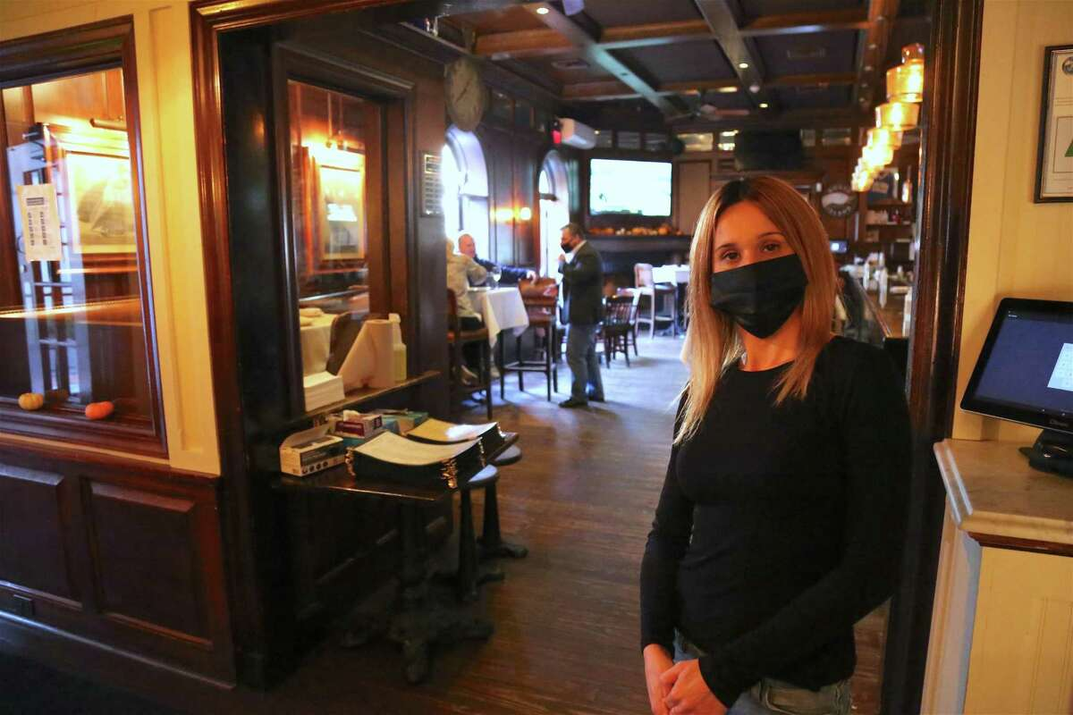 Carmen Vertula, general manager of The Goose American Bistro & Bar, hopes the state will not implement another shutdown of indoor dining, as it would seriously damage business..