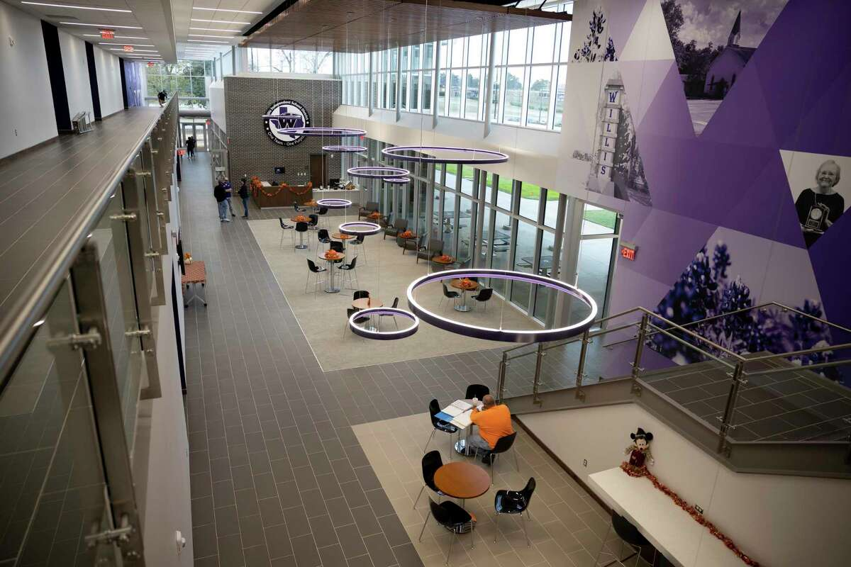 The lobby of the Willis Independent School District's new Sharon Hill Jennette Administration Building in Willis. The school district has more construction planned as it began making a priority list for the $100.15 million bond package approved in the November election.