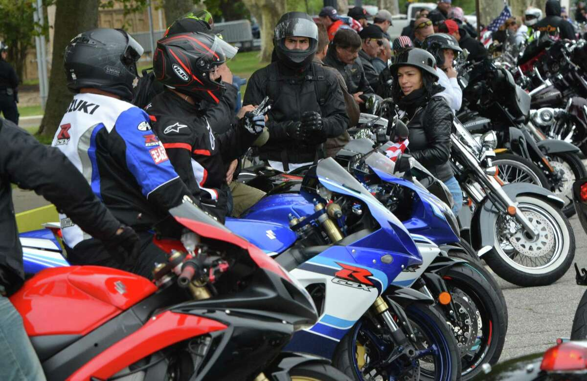 The Derby Planning and Zoning Commission told the Punishers Motorcycle Club, made up of law enforcement personnel, to stop socially gathering in a Burtville Avenue garage or face discipline.