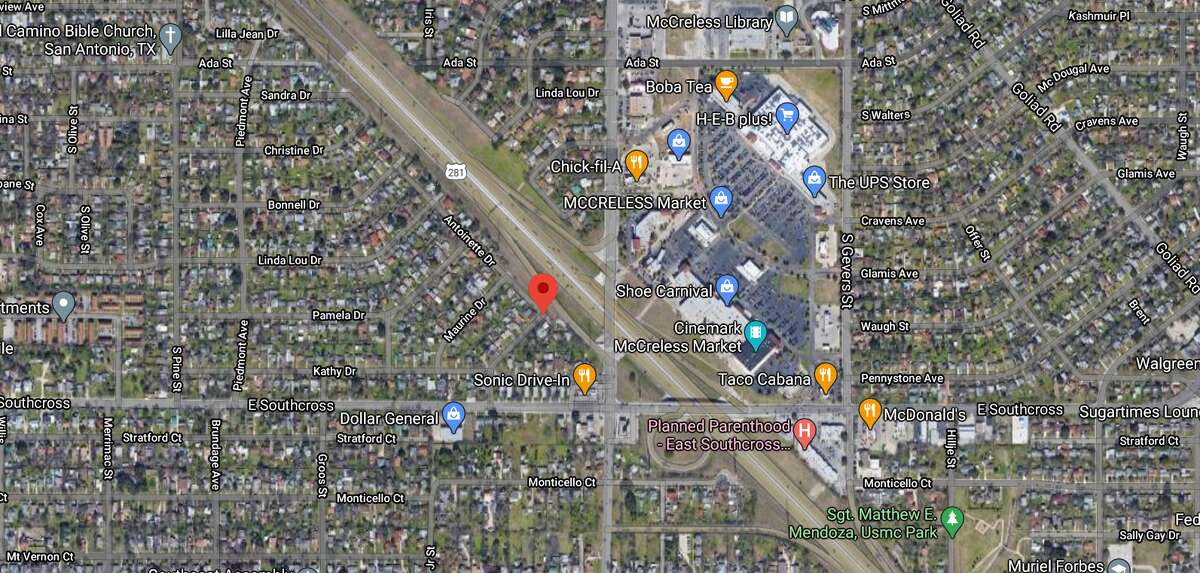 San Antonio police arrived to the scene of a shooting Sunday to find a 44-year-old man suffering from gunshot wounds in the front of Southeast Side residence. The map shows the approximate location of the incident.
