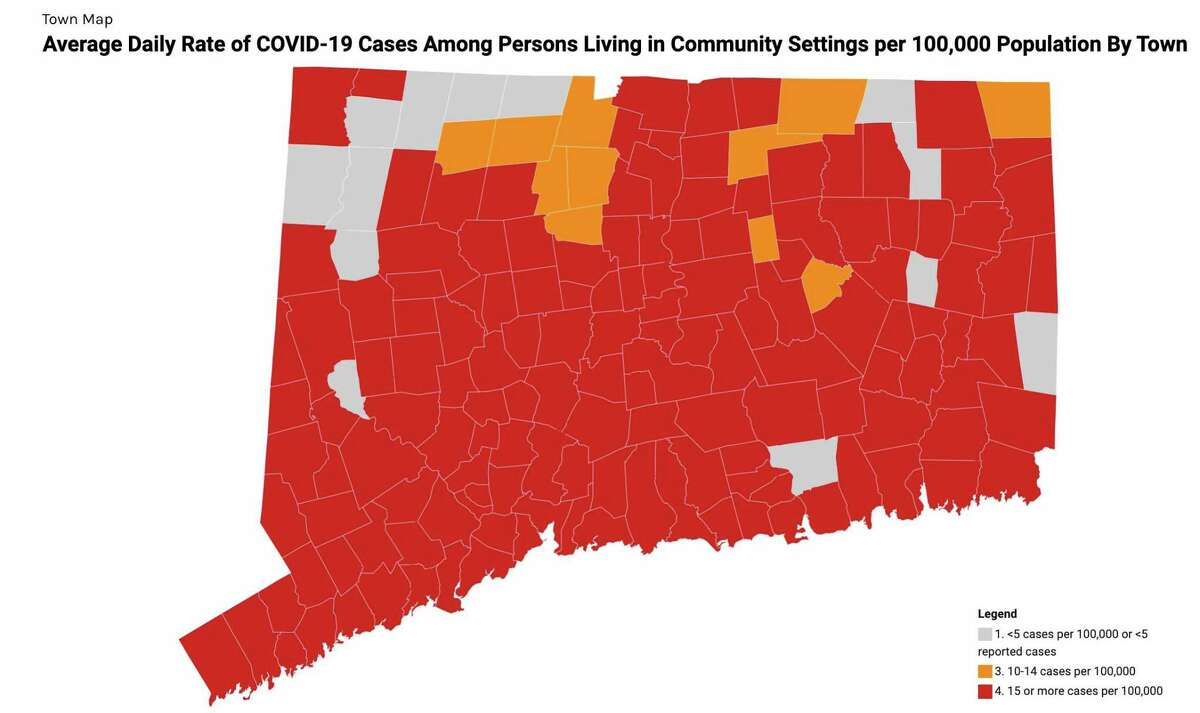 Darien has joined the rest of its neighbors and most of the state of Connecticut in the red zone in terms of increased COVID-19 cases. First Selectman Jayme Stevenson said the town hasn't seen such an