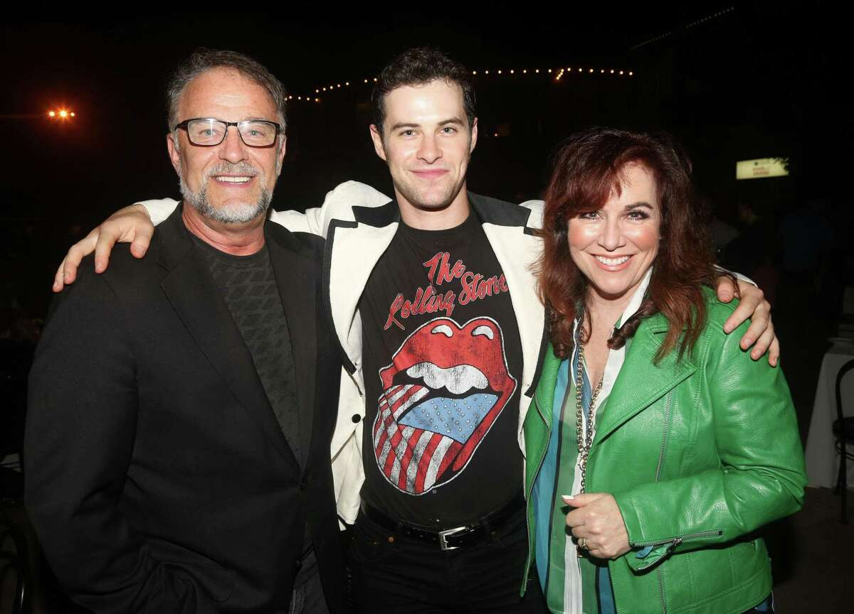 Ridgefield residents Beau Gravitte, Sam Gravitte and Debbie Gravitte pose at the opening night of the new musical