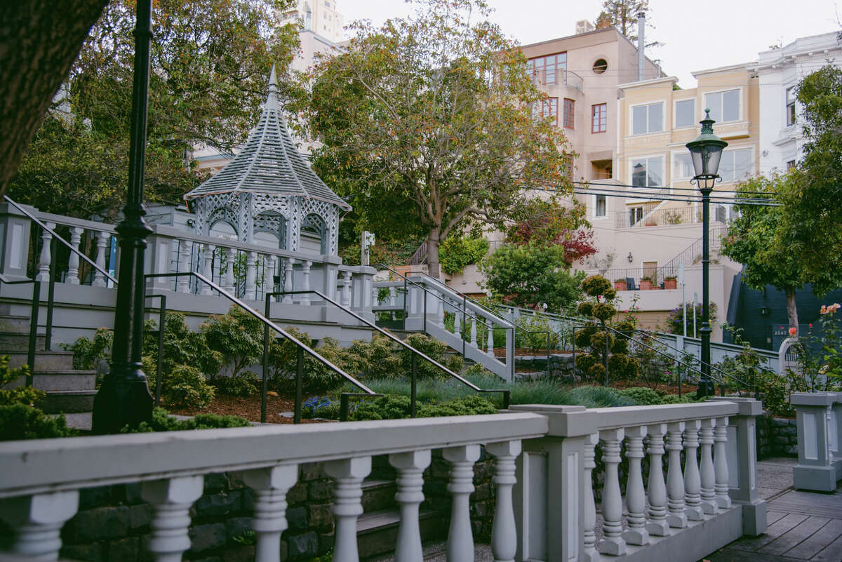Fay Park in San Francisco is seen on Monday, Nov. 16, 2020. Originally a private home and garden, the park was designed by landscape architect Thomas Church in 1957, and bequeathed to the city of San Francisco in 1998 for use as a public park.