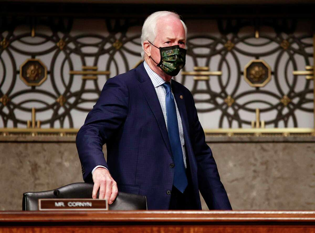 US Senator John Cornyn (R-TX) arrives during the Senate Judiciary Committee hearing on 'Breaking the News: Censorship, Suppression, and the 2020 Election' on Capitol Hill on November 17, 2020 in Washington, DC. (Photo by HANNAH MCKAY / POOL / AFP) (Photo by HANNAH MCKAY/POOL/AFP via Getty Images)