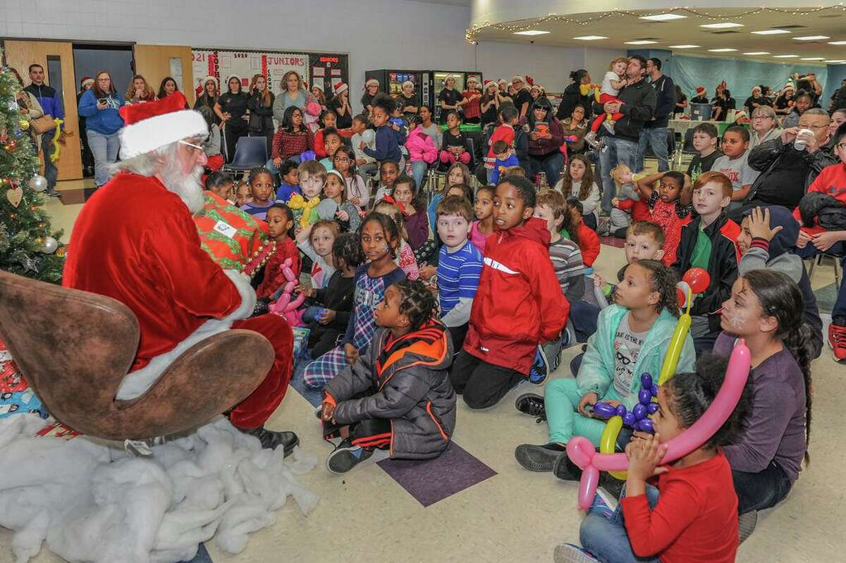 In this photo from 2017, the Santa's Workshop Program, a joint collaboration between Cromwell High School Student Council and Cromwell Youth Services Department.