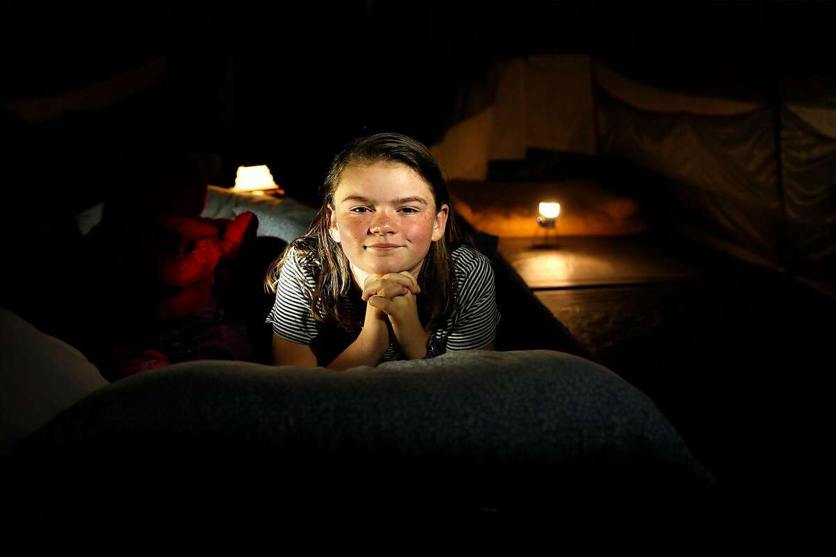Veya Connor slept in a tent in her backyard from June to October at her Bay Area home.