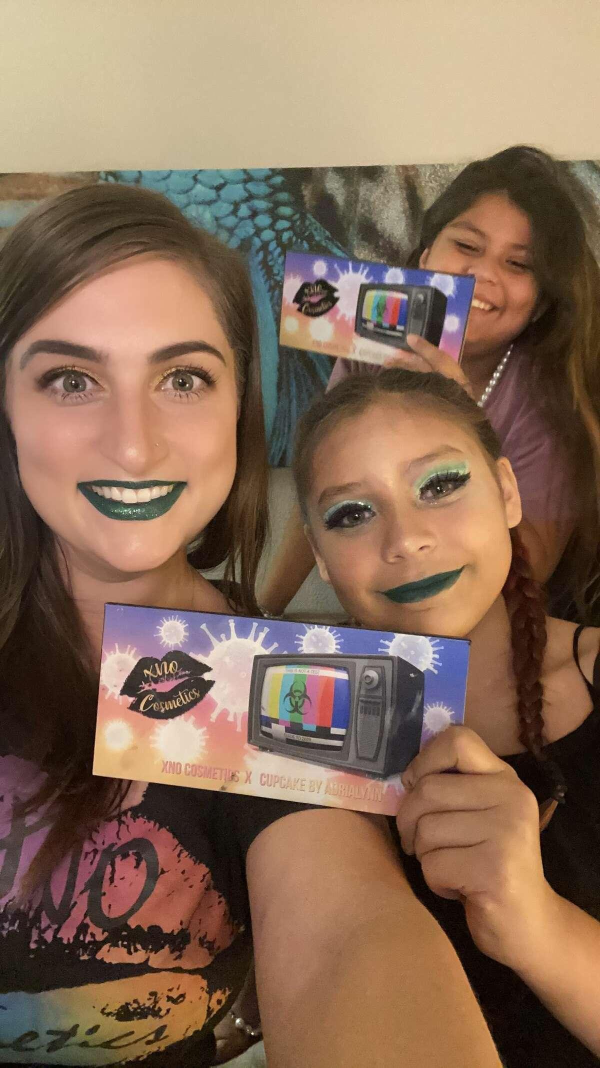 Adrialynn Alvarado, 12, a San Antonio makeup YouTuber has launched her first eyeshadow palette with XNO Cosmetics founder Brandy Keppol.