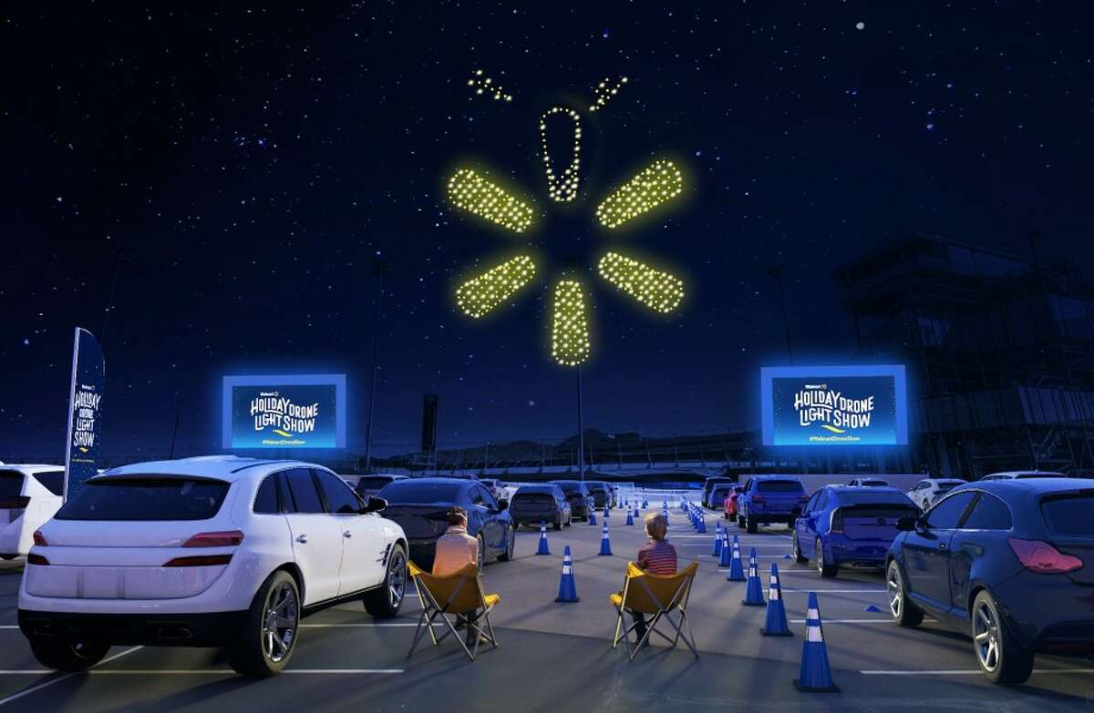 San Antonio is one of eight cities across the country where Walmart will host its holiday drone light show next month.