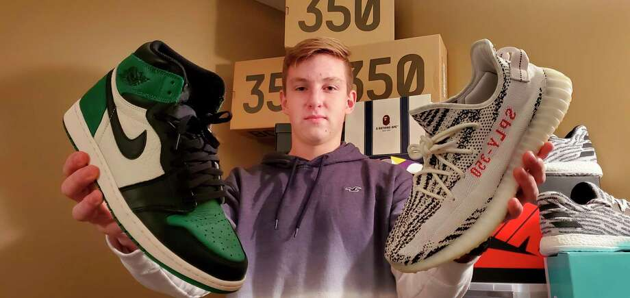 Wilson Bragg of Gladwin began selling shoes online three years ago. Three years later, he has sold over 700 pairs. (Photo provided)