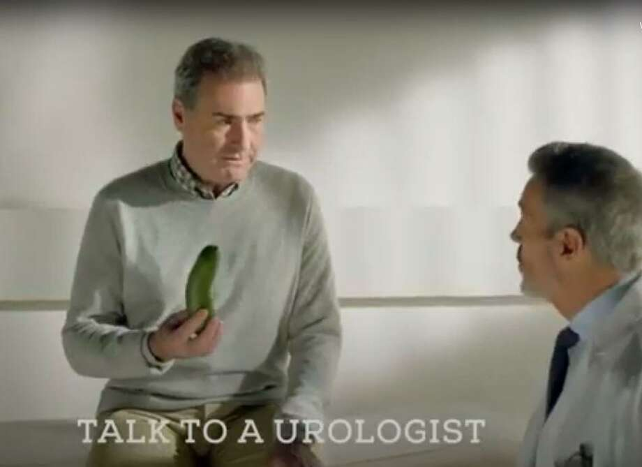 These scenes from a Xiaflex commercial are from one of a flood of commercials on TV in the past year for new pharmaceutical drugs that treat Peyronie's Disease. The little-discussed condition is also known as an un-naturally curved erection caused by injury. Two urologists in The Woodlands say the condition has seen an increase in awareness and treatment options, resulting in more men than ever seeking help with the issue. Photo: Courtesy / Courtesy