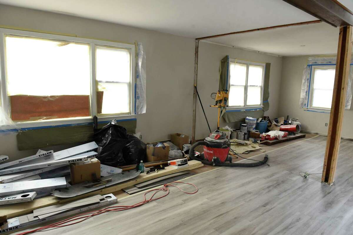 Interior of one of the real estate investment homes Jessica Rowell is renovating on Wednesday, Nov. 18, 2020 in Slingerlands, N.Y. (Lori Van Buren/Times Union)