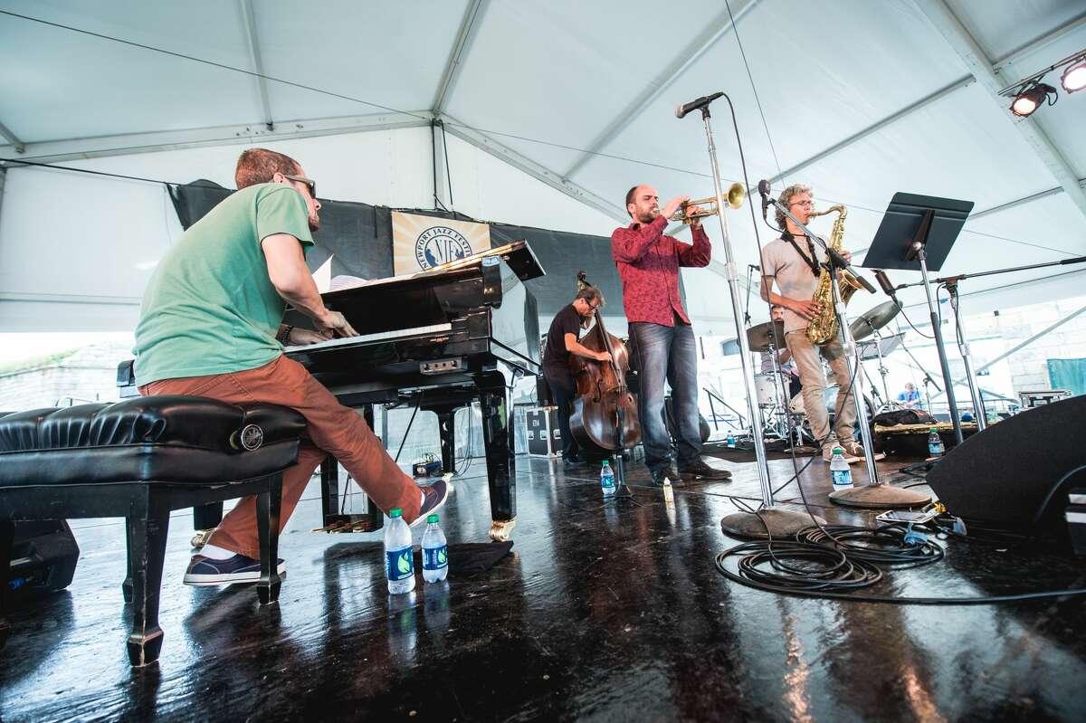 Amir ElSaffar Quintet. Photo by Adam Kissick for NPR
