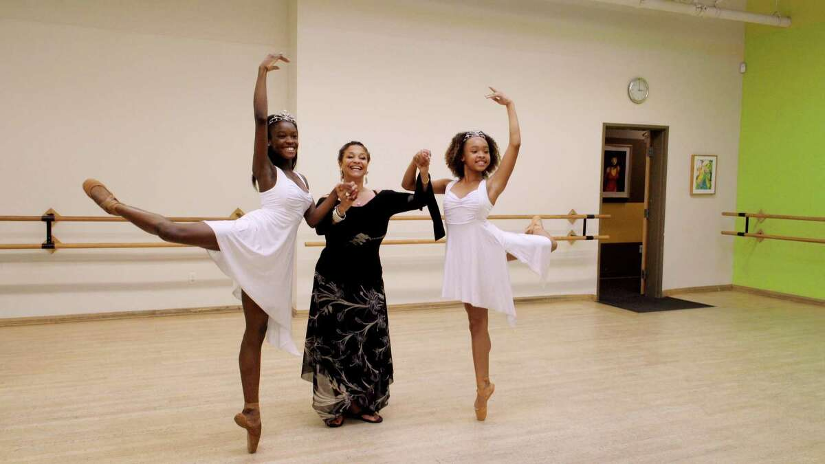 Debbie Allen, center, with students Destiny Wimpye and Jalyn Flowers in a scene from