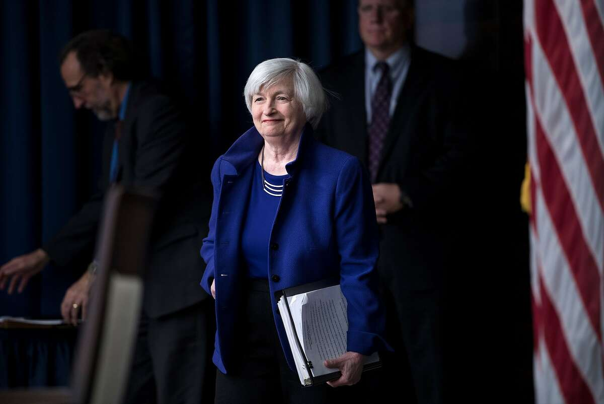 Federal Reserve Board Chair Janet Yellen arrives for a briefing in 2017. President Trump declined to renominate her in 2018.