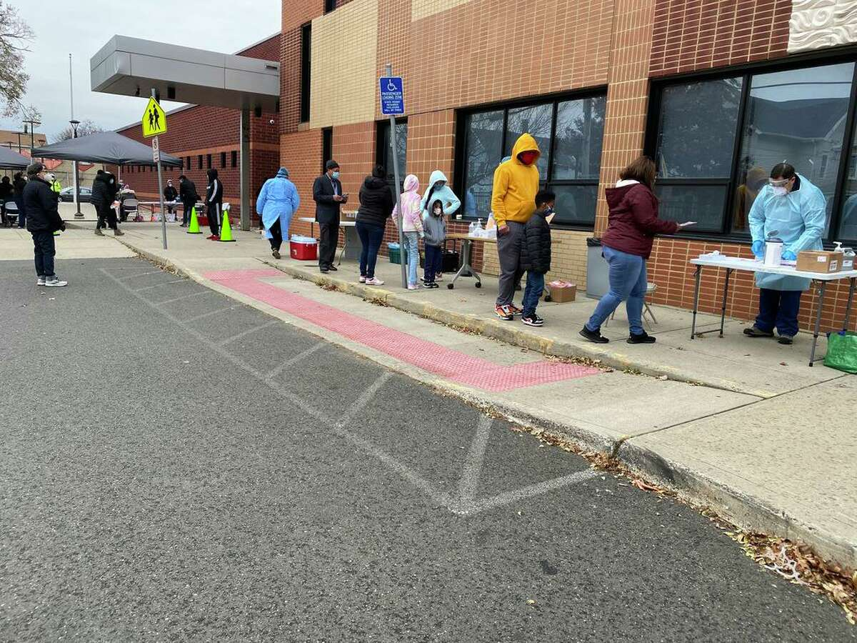 More than 300 people lined up for free COVID-19 test at Christopher Columbus Family Academy