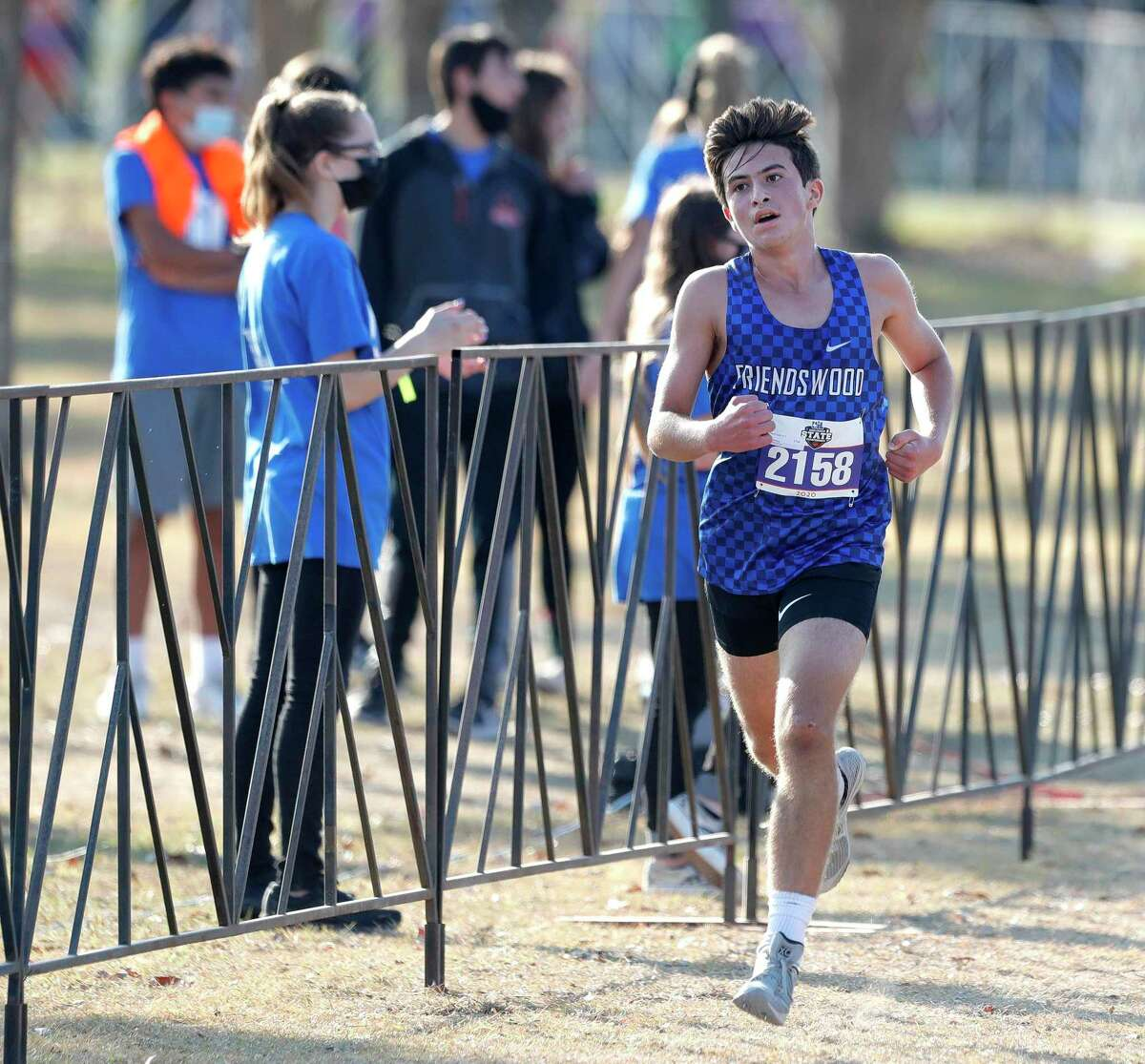 Freshman Zade Kayyali of Friendswood ran a team-best time of 15:40.37 Monday in the Class 5A race during the UIL state cross country championships at Old Settlers Park in Round Rock.