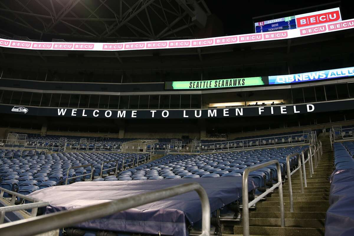 SEATTLE, WASHINGTON - NOVEMBER 19: A general view of signage at Lumen Field on November 19, 2020 in Seattle, Washington. CenturyLink Field was renamed to Lumen Field today. (Photo by Abbie Parr/Getty Images)