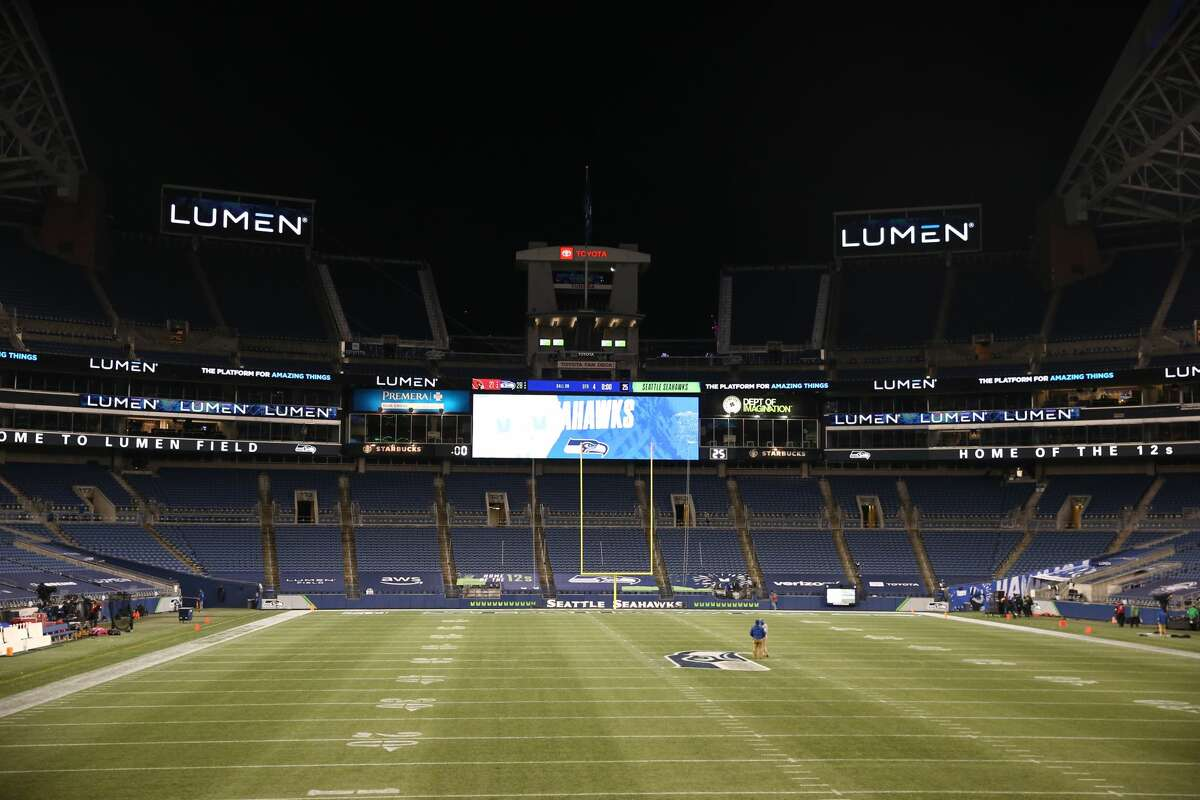 SEATTLE, WASHINGTON - NOVEMBER 19: A general view of Lumen Field on November 19, 2020 in Seattle, Washington. CenturyLink Field was renamed to Lumen Field today. (Photo by Abbie Parr/Getty Images)