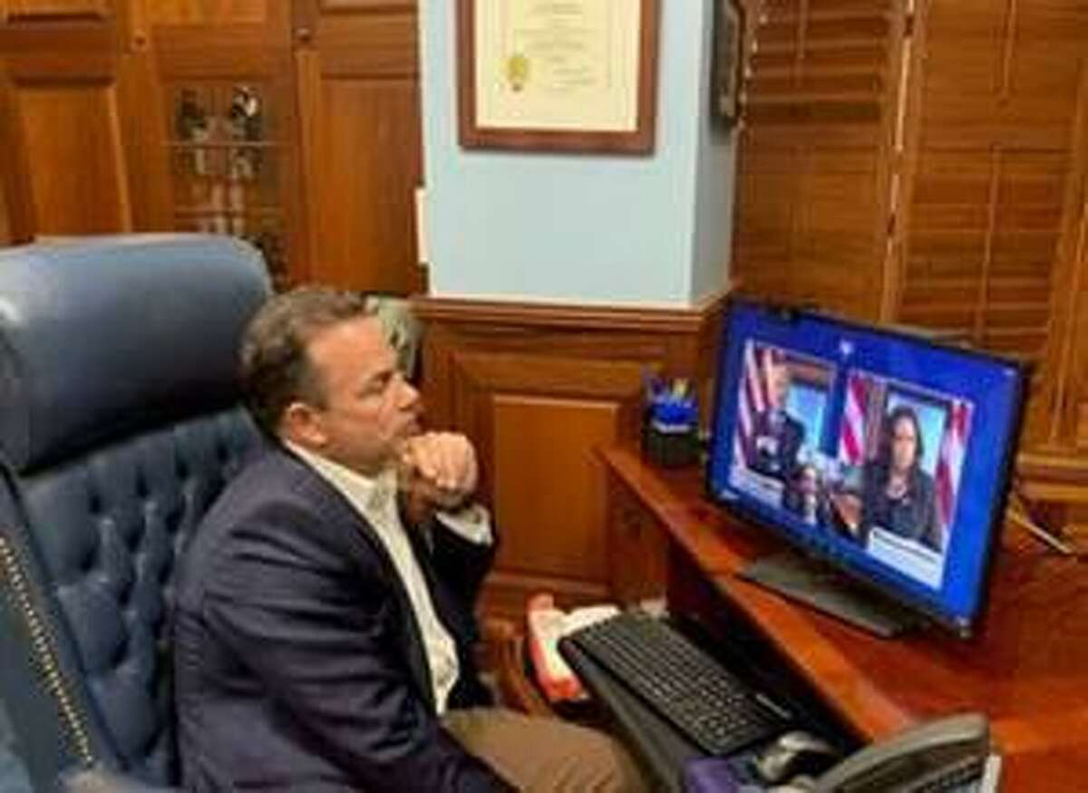 Bridgeport, Conn. Mayor Joe Ganim joined a conference call of 49 mayors Monday, Nov. 23 in a virtual meeting with President-Elect Joe Biden and Vice President-Elect Kamala Harris.