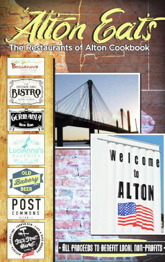 """Alton Eats: The Restaurants of Alton Cookbook,"" featuring seven restaurants, is available to order online at www.downtownalton.com. The cookbook costs $27.50 per copy. Orders must be placed by Monday, Dec. 7. Photo: For The Telegraph"
