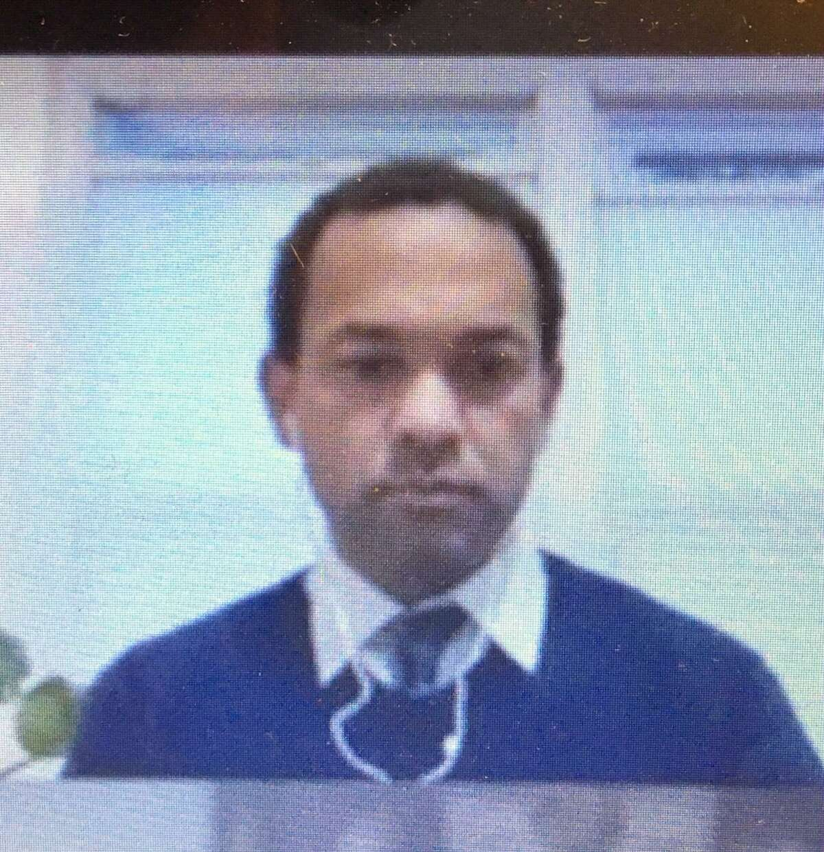 Sosimo Fabian, shown in a Bridgeport virtual meeting.