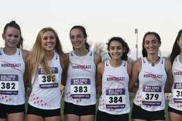 Julietta Siciak, Kiki Grant, Kali Holden, Calyn Carbone, Evelyn Marchand, Brenna Asaro and Abigail Poplawski helped Trumbull to a berth in the Nike Cross Country Championship.