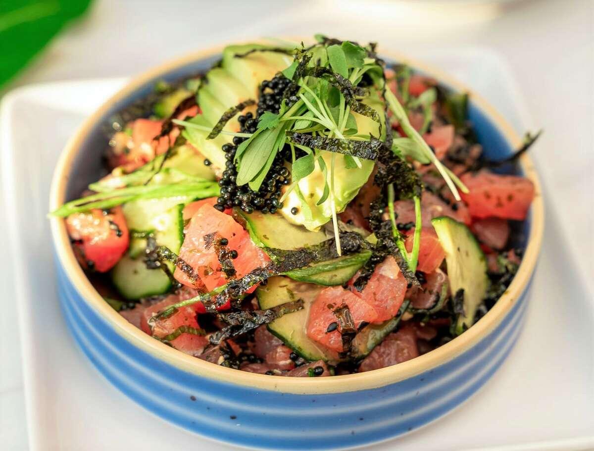 The tuna poke bowl at Good Vibes Burgers & Brews.