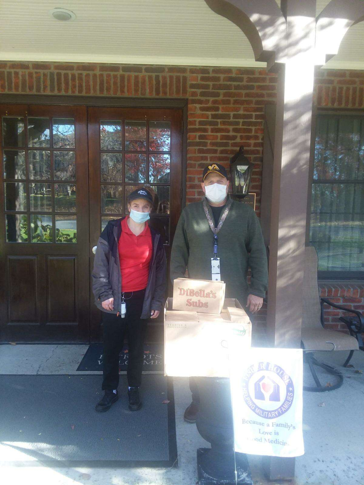 DiBella's Subs donated and delivered the first round of boxed lunches to Fisher House at the Albany Stratton VA Medical Center to feed veterans and their families staying at the house.