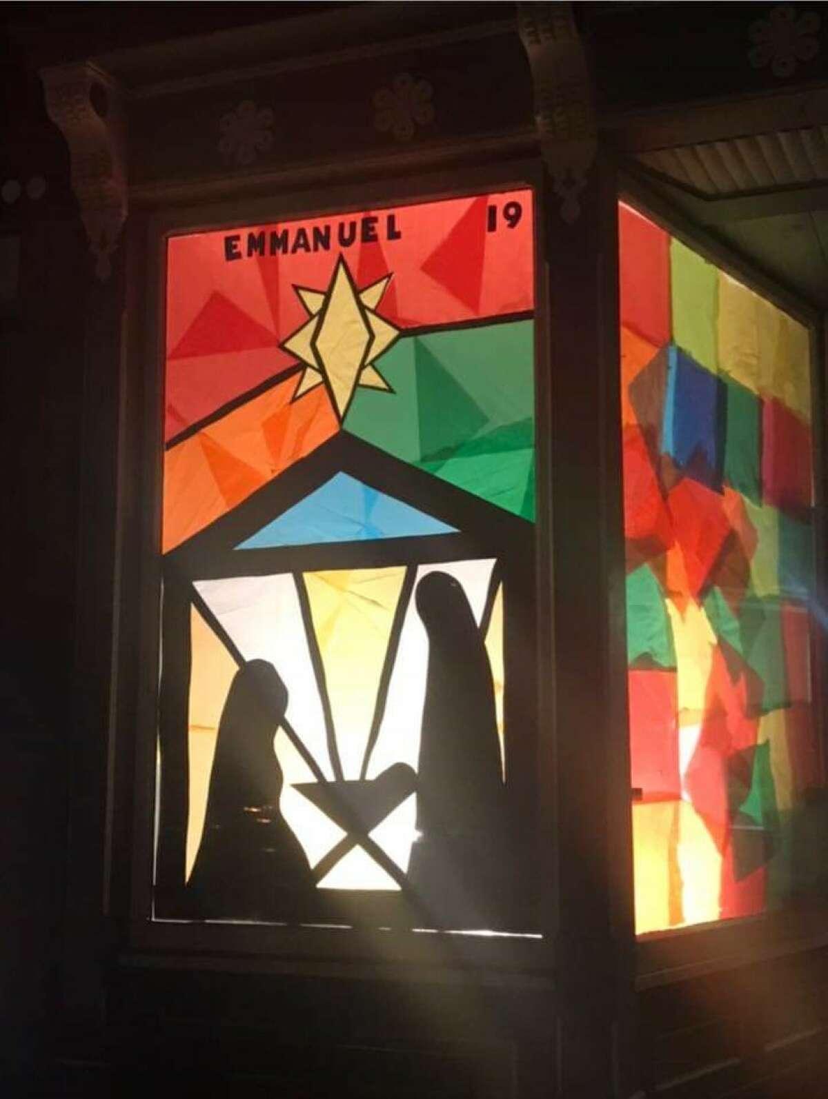 Cambridge window decorations from 2019.