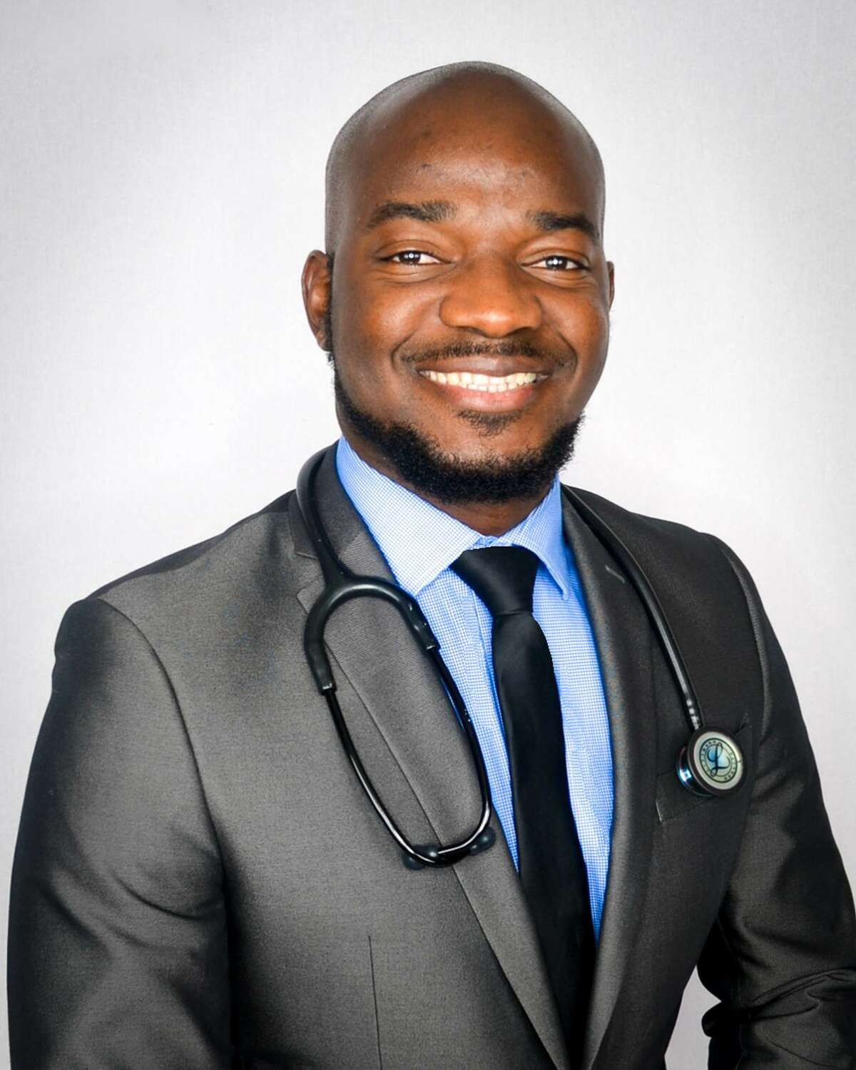 """Kwayu """"Peter"""" Abraham is dedicated to helping people. The 30-year-old East African native followed his sister to Midland and then to Midland College 10 years ago. Since that time, Abraham has successfully obtained three degrees and is now a nurse practitioner in the Emergency Room at Midland Memorial Hospital."""