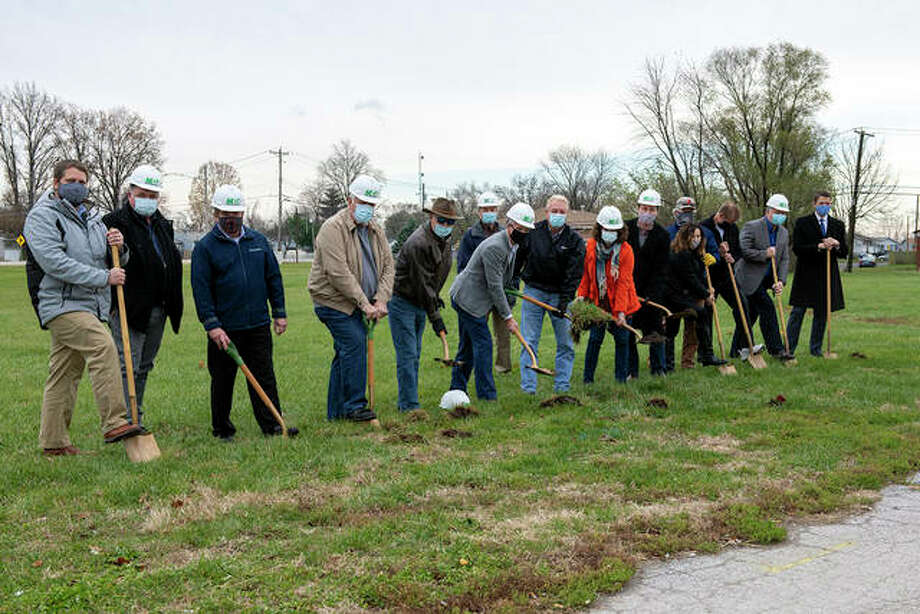 Groundbreaking on Madison County Transit's (MCT) new park and ride lot in East Alton happened Monday. Photo: Courtesy Of Madison County Transit
