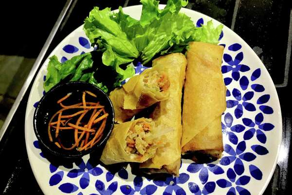 Not Our Ma's Eggrolls with pork, shrimp and crab from Xin Chao