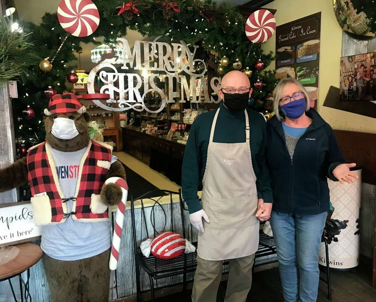 Brian and Carlleen Rose, owners of the Old Pioneer Store and Emporium and Kilwins Big Rapids, said they are excited to offer a welcoming and fun atmosphere for shoppers on Small Business Saturday. (Pioneer photo/Taylor Fussman)