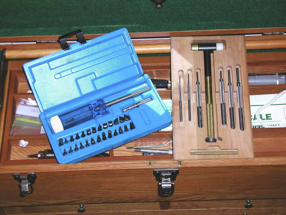 These gun screwdriver and punch sets has just about anything you need to work on most firearms. Photo: Larry J. LeBlanc