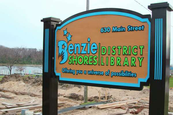 The Benzie Shores District Libaray's new expansion should be completed by late spring early summer in 2021. (Photo/Colin Merry)