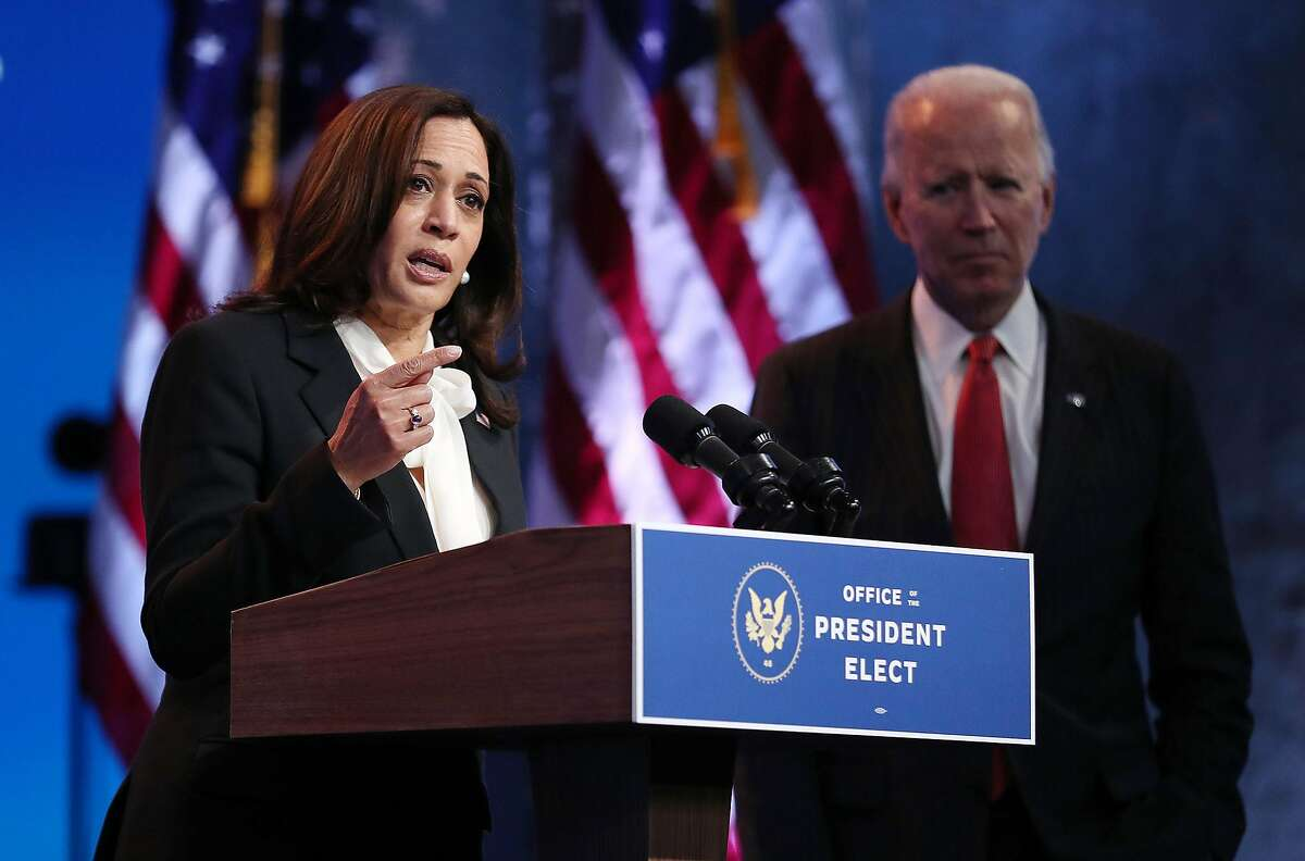 President-elect Joe Biden and Vice President-elect Kamala Harris during a press conference in Wilmington, Del., last week.