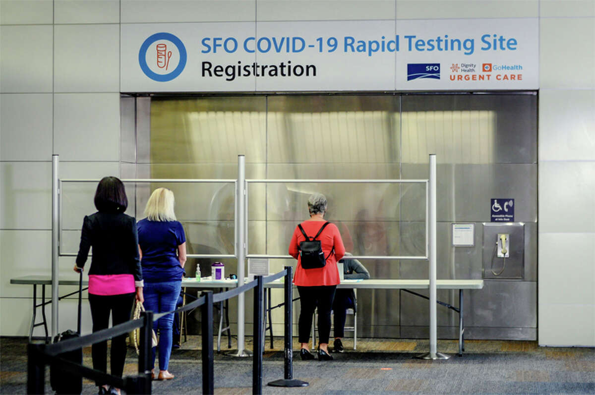 United passengers to Hawaii are already getting COVID-19 tests at San Francisco International.