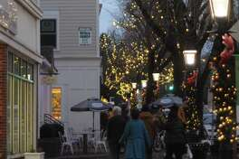 Shoppers were out on Ridgefield's Main Street on Saturday, Nov. 21. A new 'Shop Ridgefield Social Media Challenge' is promoting the downtown with $50 gift certificates.