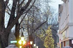 The downtown lights in Ridgefield are on and shoppers are out, but a virtual ceremony to officially turn on the lights is planned Friday, Nov. 27, at 5:45 p.m., available on a variety of electronic media.
